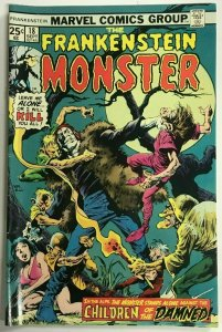 FRANKENSTEIN MONSTER#18 FN/VF 1975 MARVEL BRONZE AGE COMICS