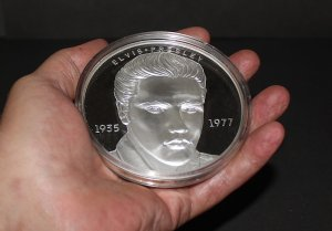 1993 Elvis Presley First Day Issue Half Pound Silver Proof Coin