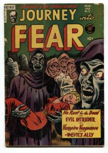Journey into Fear #12-1953-horror-spicy-weird menace-vampires-esoteric vg