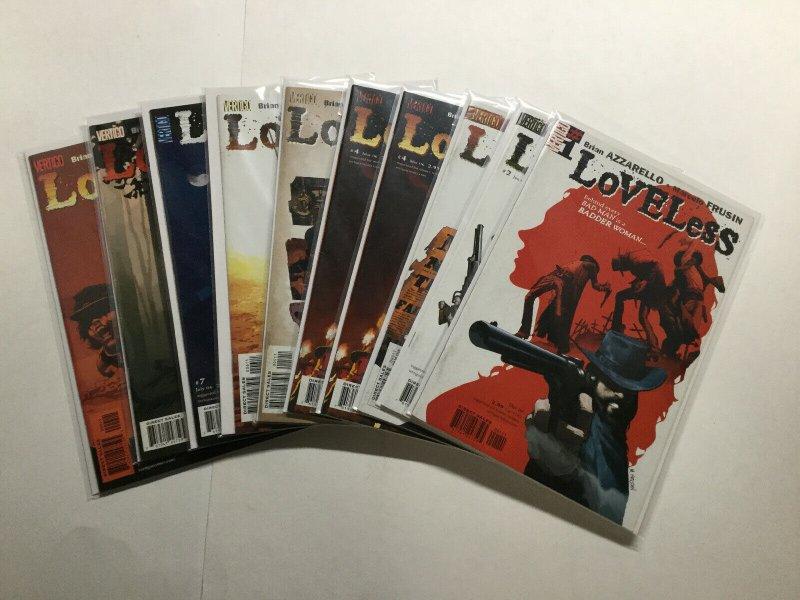 Loveless 1-9 1 2 3 4 5 6 7 8 9 Lot Run Set Fine-Very Fine Fn-Vf 7.0 Dc Comics