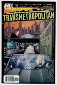 TRANSMETROPOLITAN #60, NM+, Warren Ellis, Ramos, Vertigo, more in store