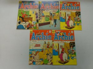 Silver age Archie comic lot 9 different issues avg 4.0 VG