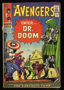 Avengers #25 VG+ 4.5 Dr. Doom!