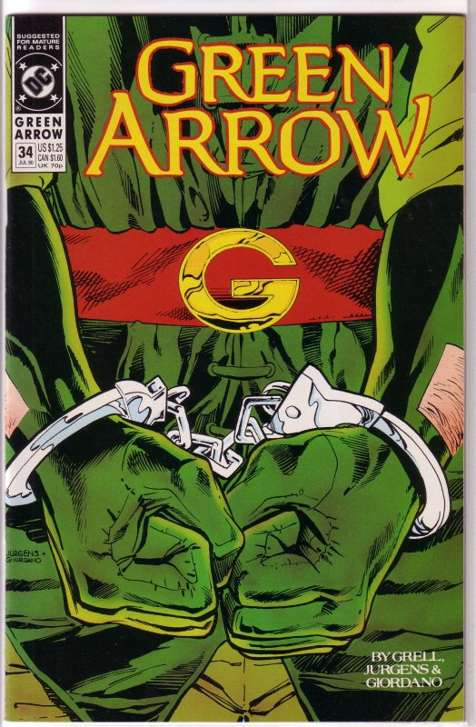 Green Arrow (vol. 2, 1987) # 34 FN Grell/Jurgens