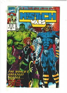 Mys-Tech Wars #2 VF/NM 9.0 Marvel UK 1993 Death's Head II, X-Men & Avengers