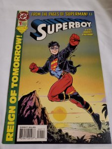 Superboy 1 Very Fine+ Art by Tom Grummett