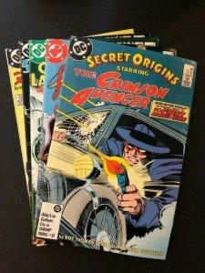 SET of 5-DC SECRET ORIGINS#5-9 Batman, Green Lantern, Flash  F/VF(A122)