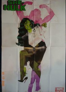 SHE-HULK Promo Poster, 24 x 36, 2014, MARVEL Unused more in our store 507