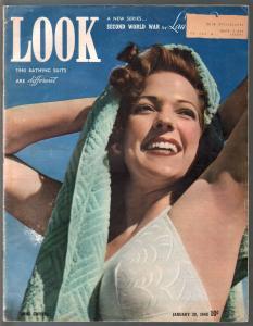 Look  1/30/1940-Anne Gwynne-1940 swimsuits-Hitler-Goering-historic-VG+