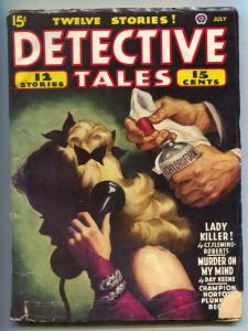 Detective Tales Pulp July 1945- Chloroform cover- Day Keene