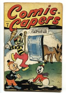 Comic Capers #2 1944-Timely-Super Rabbit-wacky humor