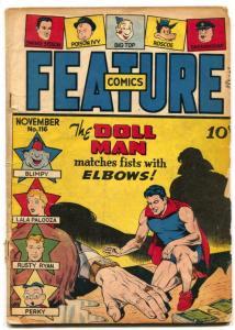 Feature Comics #116 1947- DOLL MAN- Elbows G/VG
