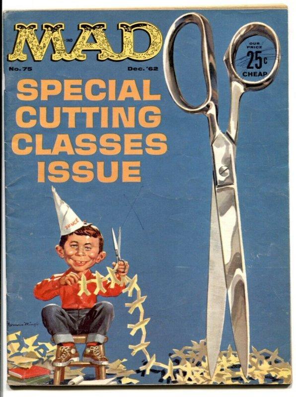 Mad Magazine #75-1962-ALFRED E. NEUMAN- scissor cover VG+