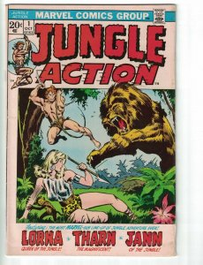 Jungle Action #1 VG lorna - jann - 1st appearance of Tharn the Magnificent 1972