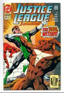 Justice League International #54 (DC, 1993) VF
