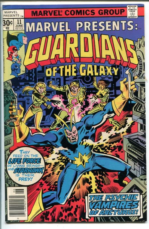MARVEL PRESENTS  #11 1977-GUARDIANS OF THE GALAXY-PSYCHIC VAMPIRES-vf