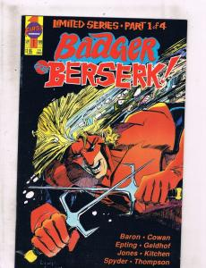Lot of 4 Badger Goes Berserk! First Comic Books # 1 2 3 4 WT5