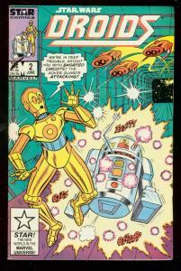 DROIDS #2 1986-STAR WARS-MARVEL COMICS-ROMITA ROBOTS FN