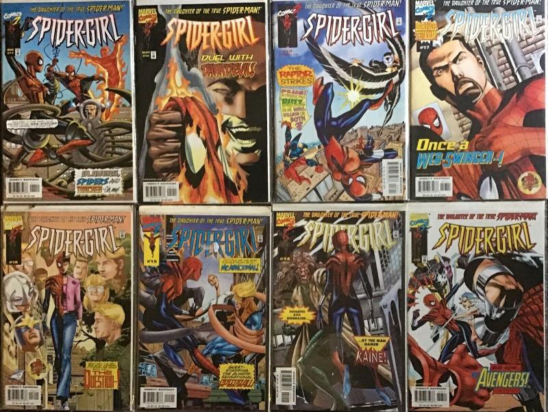 SPIDER-GIRL(MARVEL)#11-18 SPIDER-MAN'S DAUGHTER NM COND.8 BOOK LOT
