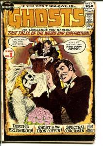 GHOSTS #1-DC GIANT 1971 HORROR SKULL COVER VG