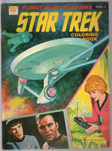 Star Trek Coloring Book #1035-1 1975-William Shatner-Leonard Nimoy-FN