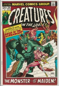 Creatures on the Loose # 20 Strict NM- Artist Edgar Rice Burroughs Story