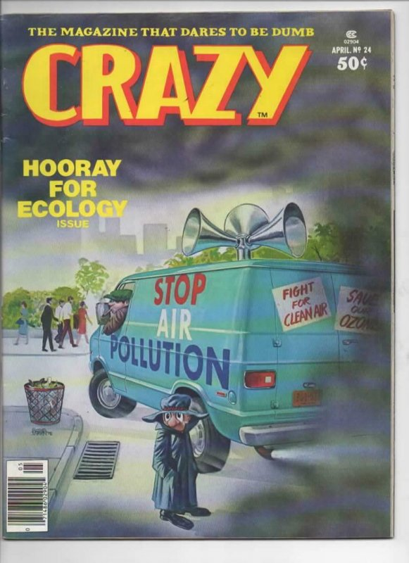 CRAZY #24 Magazine, FN/VF, Hooray for Ecology, 1973 1977, more in store