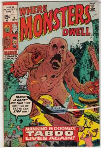 Where Monsters Dwell #5 (Sep-70) VF/NM High-Grade Sporr