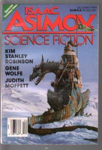 Isaac Asimov Science Fiction -12/1989 -Keith Parkinson cover art-pulp thrills-VF