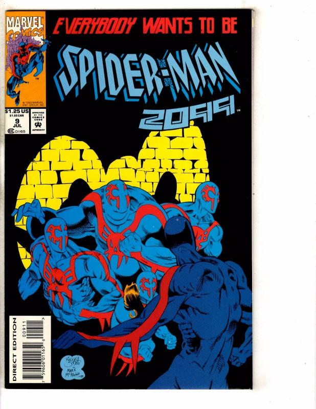 Lot Of 9 Spider-Man 2099 Marvel Comic Books # 9 10 11 12 13 14 15 16 25 PP4