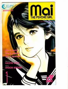 Lot Of 7 MAI The Psychic Girl Viz Eclipse Comic Books # 1 2 3 4 6 9 10 HJ6