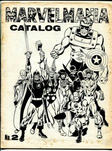 MarvelMania Catalog #2 1970-Jim Steranko-Jack Kirby-membership kit-VG