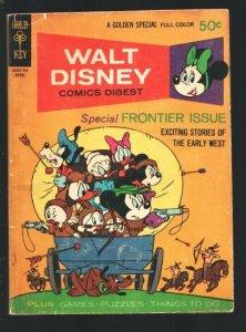 Walt Disney Comics Digest #28 1971-special frontier issue-Davy Crockett-Carl ...