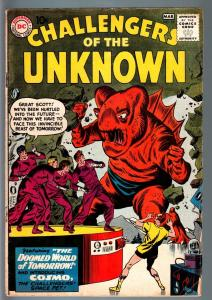 CHALLENGERS OF THE UNKNOWN #18-INTRO COSMO-ALIENS-DC-SCI FI SERIES-1961-VG VG