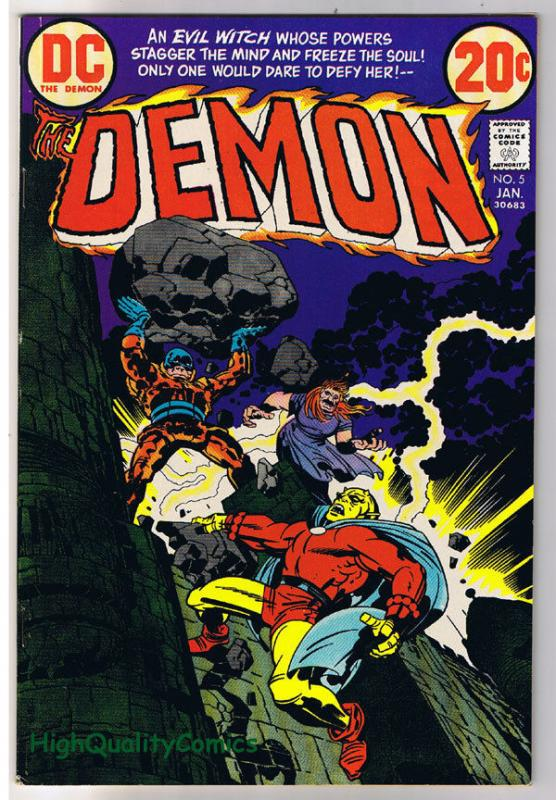 DEMON #5, VF/NM, Jack Kirby, 4th World, Merlin, 1972, more JK in store