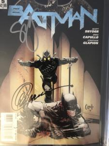 Batman New 52 #5 - CGC 9.8 Signed by Syner, Capullo & Glapion