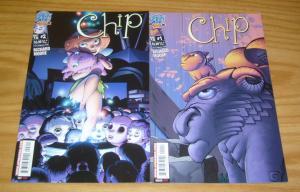 Chip #1-2 VF/NM complete series - richard moore - antarctic press comics set lot