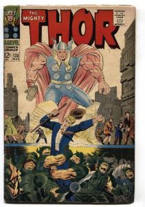 Thor #138 1966 comic book- Jack Kirby- Marvel Silver Age G-