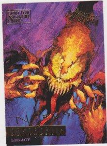 1995 Fleer Ultra Spider-Man Gold Foil Signature #75 Demogoblin/Cliff Nelsen