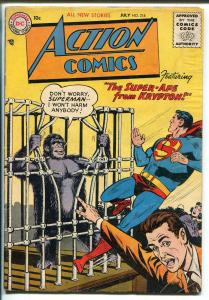 Action #218 1956-DC Comics-Superman-Congo Bill- Tommy Tomorrow-VG MINUS