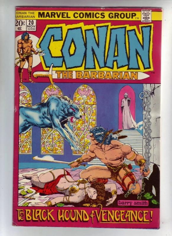 Conan the Barbarian #20 (Nov-72) FN+ Mid-High-Grade Conan the Barbarian