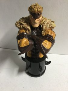 "Sabretooth 6"" Inch Mini Bust Bowen Designs 4729/7000 No Box Marvel"
