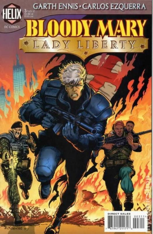 BLOODY MARY #3, NM, Lady Liberty,  Garth Ennis,  Helix, 1997, more  in store