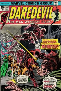Daredevil 117 VF Last Gerber Script (Marvel Jan. 1975)