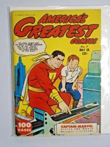 Flashback #32 - America's Greatest Comics 7 - see pics - 5.0? - 1943 1974