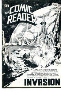 The Comic Reader Fanzine #113 Street Enterprises 1974 Jim Aparo Invasion Cover