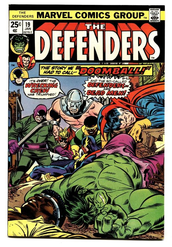 THE DEFENDERS #19-Wrecking Crew issue 1974 Luke Cage comic book