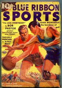 Blue Ribbon Sports Pulp #3 March 1938- John Montague- Bob Pastor