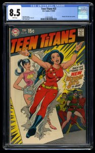 Teen Titans #23 CGC VF+ 8.5 White Pages New Wonder Girl Costume! DC Comics