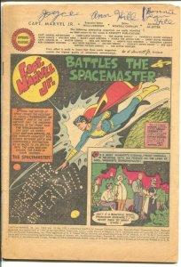 Captain Marvel Jr #105 1952- Fawcett-sci-fi issue-coverless bargain copy-P